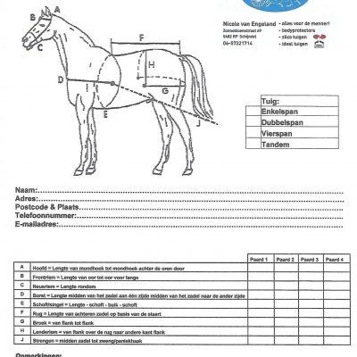 Nicole voor Menners paarden & pony's opmeet formulier